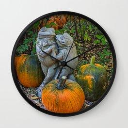 Dancing in the Pumpkin Patch Wall Clock
