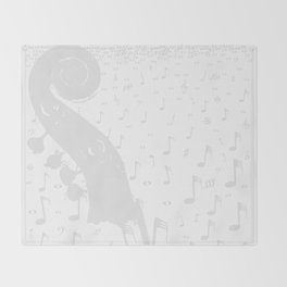 Classical Music Background Throw Blanket