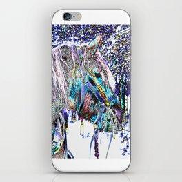 horse  in winter iPhone Skin