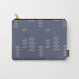 Modern Minimalist Triangle Pattern in Slate Blue Carry-All Pouch