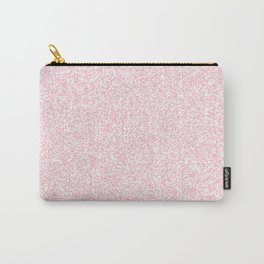 Spacey Melange - White and Pink Carry-All Pouch