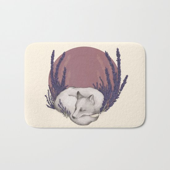 Fox & Lavender Bath Mat