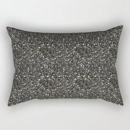 Gray Hematite Close-Up Crystal Rectangular Pillow