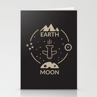 aviation Stationery Cards featuring Aviation: Earth to Moon by Imaneeque