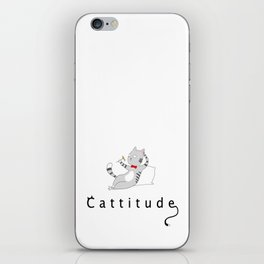 Cattitude iPhone Skin