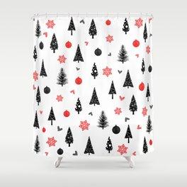 Seamless christmas pattern #christmas #xmas Shower Curtain