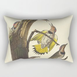 Golden-winged Woodpecker by AUDUBON Rectangular Pillow