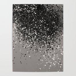 Silver Gray Glitter #1 #shiny #decor #art #society6 Poster