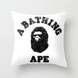 A Bathing Ape Black Throw Pillow