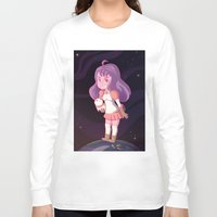 bee and puppycat Long Sleeve T-shirts featuring Bee and Puppycat by Steph Harrison