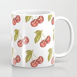 Cherry Watercolor Illustration Pattern Coffee Mug