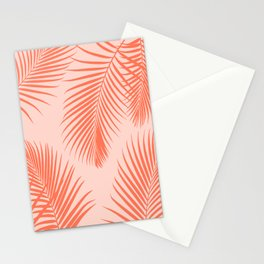 Coral Palms ~ Summer Tropical Pattern Stationery Cards