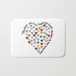 Hearts Heart Teacher Bath Mat