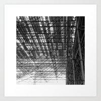 Scaffolding Art Print