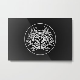 Date Clan · White Mon · Outlined Metal Print