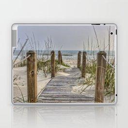 Walkway to Beach Laptop & iPad Skin
