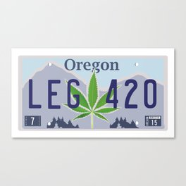 Oregon Legal Weed Canvas Print