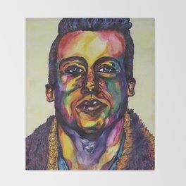 Macklemore Watercolor Portrait Throw Blanket