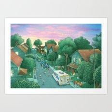 Sunset at Grimloch Lane  Art Print