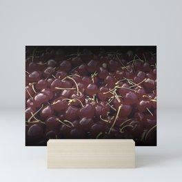 cherries pattern reaclifn Mini Art Print