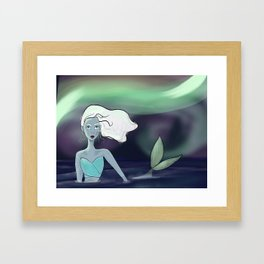 Arctic Mermaid Framed Art Print