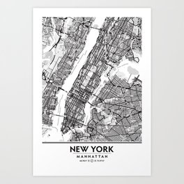 New York City Showing Manhattan, Brooklyn and New Jersey Art Print