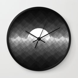 Lost sun (white) Wall Clock