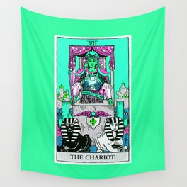 7. The Chariot- Neon Dreams Tarot Wall Tapestry
