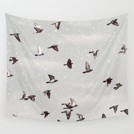 Winter Play Wall Tapestry