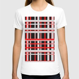 Lines stripes black red 02 T-shirt