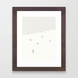 SKIBAKKEN Framed Art Print