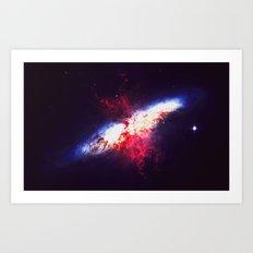 When Two Stars Collide Art Print