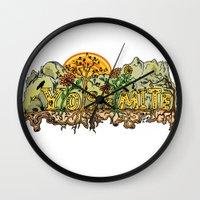 yosemite Wall Clocks featuring Yosemite  by Geryes