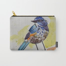 Himalayan Bluetail Bird- in watercolor Carry-All Pouch