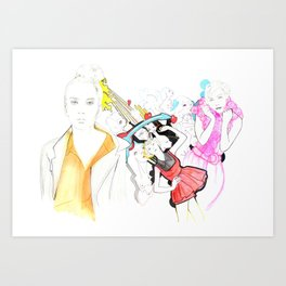 Whe love Fashion Art Print