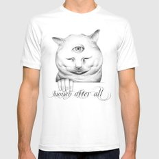 human after all II Mens Fitted Tee MEDIUM White