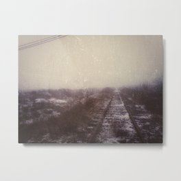 | Never-ending No. 3 -  or abandoned railroad at the edge of the world | Metal Print