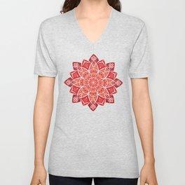 Sunny bright rays of floral mandala Unisex V-Neck