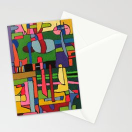 Colors in Collision 3 - Geometric Abstract of Colors that Clash Stationery Cards