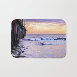 Ever Changing Cayucos Pier and Beach California Bath Mat