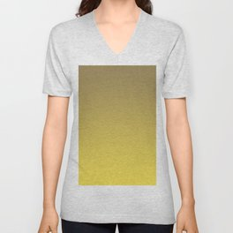 Yellow and Brown Ombre Gradient Blend 2021 Color of the Year Illuminating & Accent Shade Unisex V-Neck