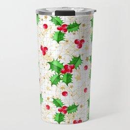 Christmas holly berries Travel Mug