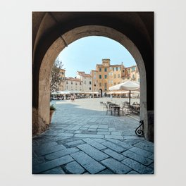 Lucca, Italy | Gateway to Piazza dell'Anfiteatro | Tuscany Art Print | City Architecture Photo Art Canvas Print