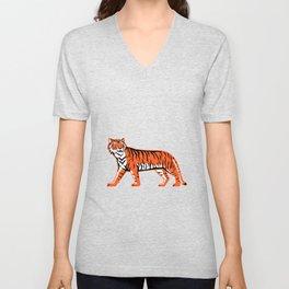 Bengal Tiger Full Body Mascot Unisex V-Neck
