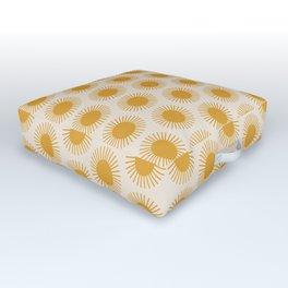 Golden Sun Pattern Outdoor Floor Cushion