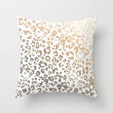GOLD LEO Throw Pillow