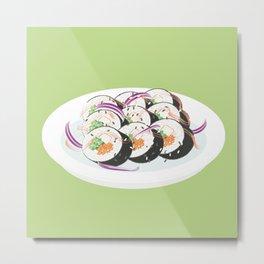 Sushi plate Metal Print