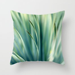 Spiked Leaves on a Slant Throw Pillow