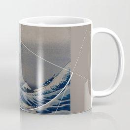 Hokusai Meets Fibonacci Coffee Mug
