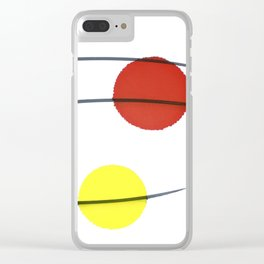 Red Brown Yellow Orange Drops Clear iPhone Case